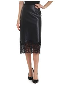 Ermanno Scervino - Eco-leather skirt in black