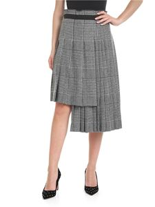 Ermanno Scervino - Prince of Wales asymmetrical skirt in black and white