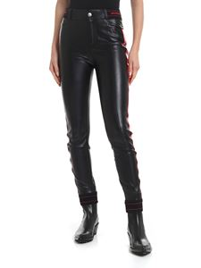 Ermanno Scervino - Slim trousers in black eco-leather