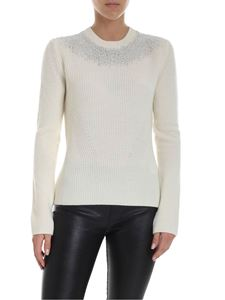 Ermanno Scervino - Crewneck sweater with applied rhinestones
