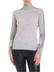 Ermanno Scervino - Turtleneck in grey with lace inserts