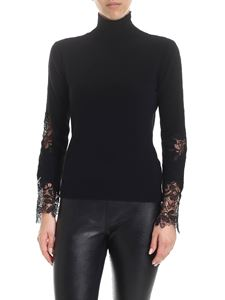 Ermanno Scervino - Black turtleneck with lace inserts