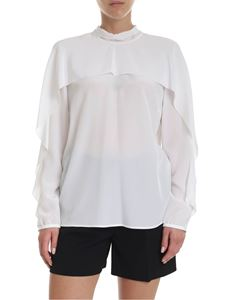 Red Valentino - Crepe de chine blouse in white