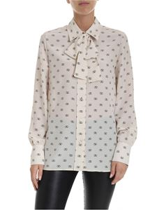 Valentino - V logo shirt in ivory color