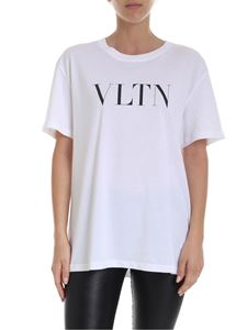 Valentino - VLTN T-shirt in white