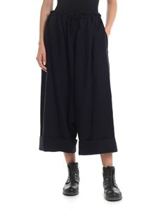 Y's Yohji Yamamoto - Wide trousers in dark blue with low crotch