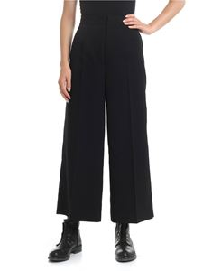 Y's Yohji Yamamoto - Y'S Pink Cropped trousers in black