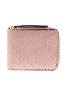 Maison Margiela - Wallet in pink hammered leather