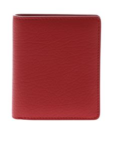 Maison Margiela - Wallet in red hammered leather