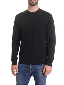 Dsquared2 - Crew-neck pullover in black with rubberized logo