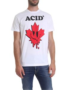 Dsquared2 - ACID printed t-shirt in white