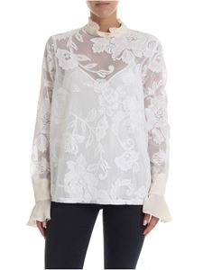 See by Chloé - Lace blouse in cream color