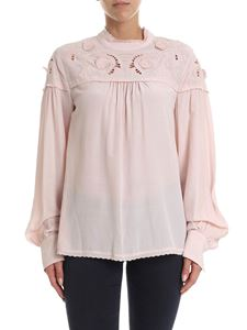 See by Chloé - Embroidered blouse in antique pink