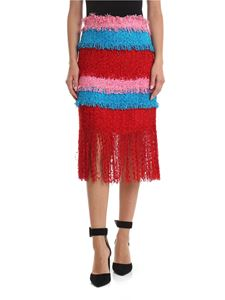 MSGM - Red skirt with fringes