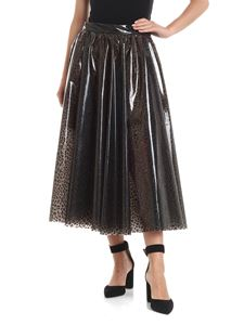 MSGM - Animal printed PVC skirt