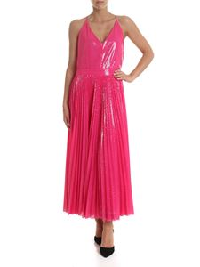 MSGM - Long dress in fuchsia sequins