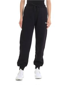 MSGM - Jogging trousers in black cotton