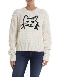 MSGM - Cat printed pullover in white