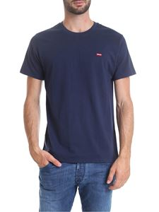 Levi's - Crew-neck t-shirt in blue with Levi's logo
