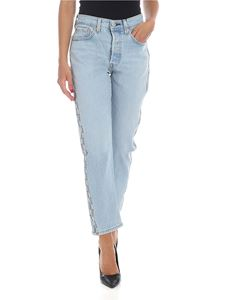 Levi's - Baggy crop jeans with branded bands in light blue
