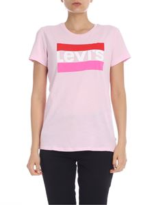 Levi's - T-shirt in pink with maxi logo