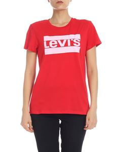 Levi's - T-shirt in red with maxi logo