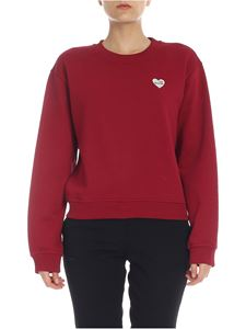 Love Moschino - LOVE MOSCHINO heart logo sweatshirt in red