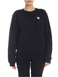 Love Moschino - LOVE MOSCHINO logo heart sweatshirt in black