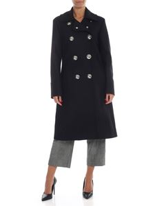 Love Moschino - Double-breasted long coat in black