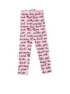 Monnalisa - Rock Lettering print leggings in pink
