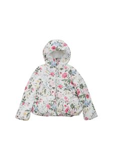 Monnalisa - Multicolor flower print down jacket
