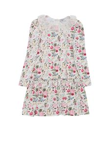Monnalisa - Patty dress bouquet with flowers print in white