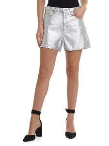 MSGM - Shorts in silver denim