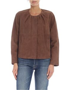 Max Mara Weekend - Giacca Attica in suede marrone