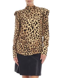 be Blumarine - Blusa animalier in crepe