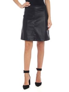 be Blumarine - Eco-leather miniskirt in black
