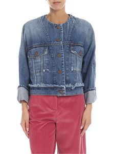 Max Mara Weekend - Giubbino Platone in denim blu