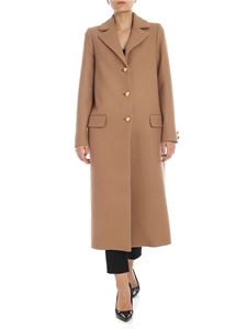 be Blumarine - Single-breasted coat in camel color