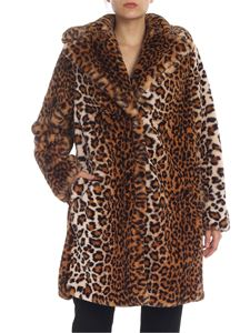 be Blumarine - Animal printed coat in faux fur
