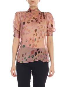 Blumarine - Printed silk blouse in pink