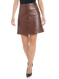be Blumarine - Eco leather miniskirt in brown