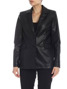be Blumarine - Blazer in ecopelle nero