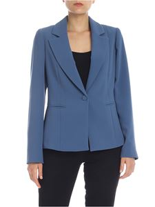 be Blumarine - Crepe blazer in light blue