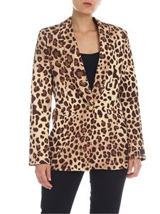 be Blumarine - Animal print blazer in beige