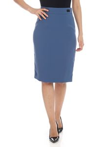 be Blumarine - Crepe skirt in light blue