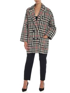 Red Valentino - Houndstooth coat in white, black and red
