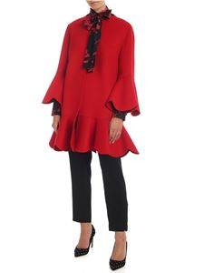 Valentino - Compact Drap coat in red