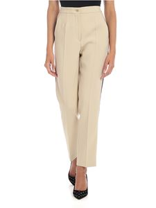 Etro - Trousers in beige with contrasting bands