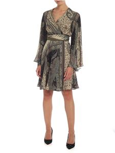 Etro - Paisley print dress in shades of green