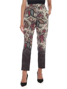 Etro - Trousers in beige with contrasting print